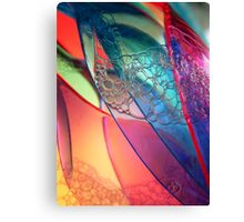 Abstract Plastic Canvas Print