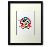 Il Porco Rosso Framed Print