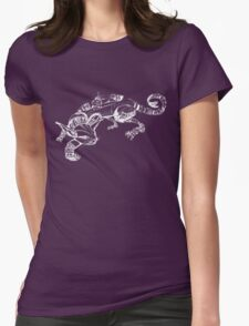 Cat Robot #1 Racer in White Womens Fitted T-Shirt