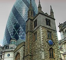 The Gherkin Building - City of London by Colin  Williams Photography