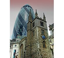 The Gherkin Building - City of London Photographic Print