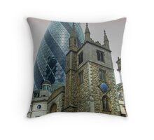 The Gherkin Building - City of London Throw Pillow