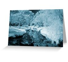 blue day....daydreaming on the river styx Greeting Card