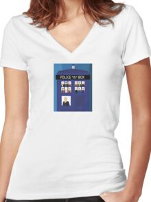 The 13 Doctors Women's Fitted V-Neck T-Shirt