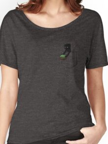 Little Pocket Enderman Women's Relaxed Fit T-Shirt