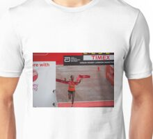 Tigist Tufa , the women's winner of the Virgin money London Marathon Unisex T-Shirt