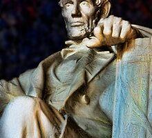 Lincoln Memorial Digital painting by bloomingvine