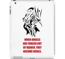 The Fallen Angel (black edition) iPad Case/Skin