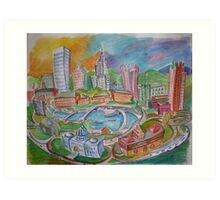 Providence, Rhode Island.... A Colorful City Art Print