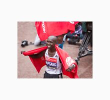Wilson Kipsang crosses the finish line at the Virgin money London Marathon Unisex T-Shirt