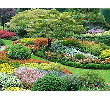 Sunken Garden, Butchart Gardens, Victoria, Vancouver Island, Canada Photographic Print