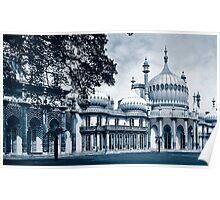 Royal Pavilion Brighton Blue Duotone Poster