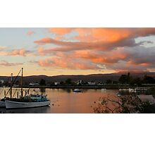 Sunset Over Launceston, Tasmania. Photographic Print