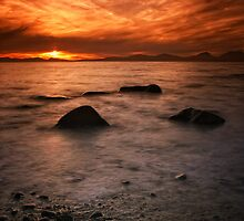 Jura Sunset by Martina Cross