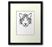 Feng shui white tiger Framed Print