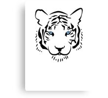 Feng shui white tiger Canvas Print