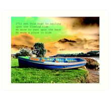 Riverside Row Boat Art Print