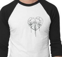 Skull Heart Men's Baseball ¾ T-Shirt