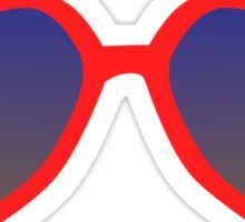 red heart sunglasses Sticker