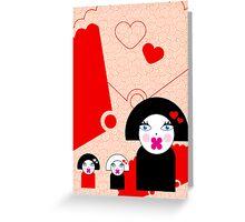 Geisha Trio Card Greeting Card