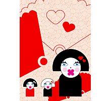 Geisha Trio Card Photographic Print
