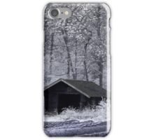 Hut in infrared iPhone Case/Skin