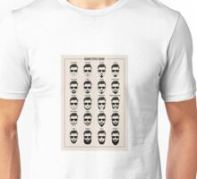 beard style guide poster Unisex T-Shirt