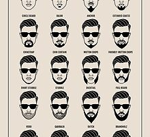 beard style guide poster by beakraus