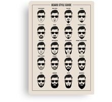 beard style guide poster Canvas Print