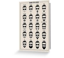 beard style guide poster Greeting Card