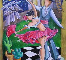 Spicy Salsa Dance by nancy salamouny