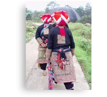 On the move, Red Dao Canvas Print