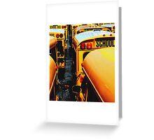 School Bus Greeting Card