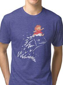 Little Fish Girl Tri-blend T-Shirt