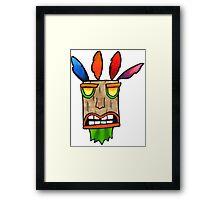 Crash Bandicoot Tribal Mask Framed Print