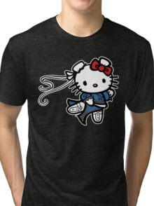 kitty Street Fighter Tri-blend T-Shirt