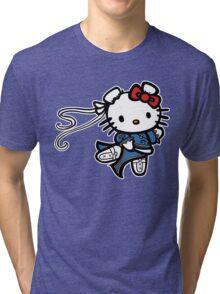 kitty Street Fighter Tri-blend T-Shirt