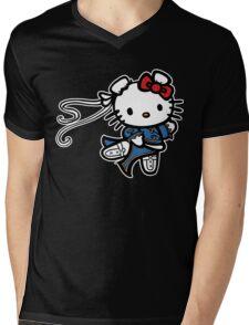 kitty Street Fighter Mens V-Neck T-Shirt