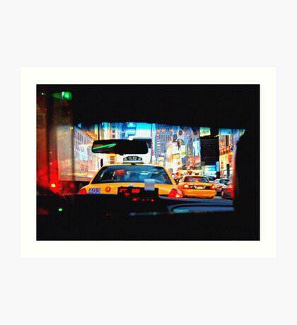 Taxi cab Art Print
