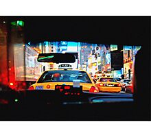 Taxi cab Photographic Print