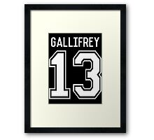 GALLIFREY TIME LORDS Framed Print