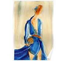 "Fashion and Victim Painting ""Blue and Beauty"" Poster"
