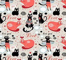 pattern lovers cats by Tanor