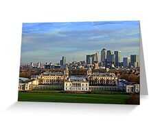 Greenwich Royal Naval Museum and Canary Wharf Greeting Card