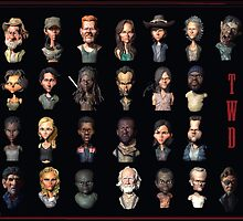 The Walking Dead Characters by carloscastro