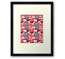 pattern of elephants in the clouds Framed Print