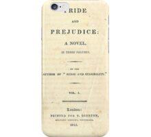 PRIDE and PREJUDICE Novel Cover iPhone Case/Skin