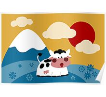 Flowercow Poster