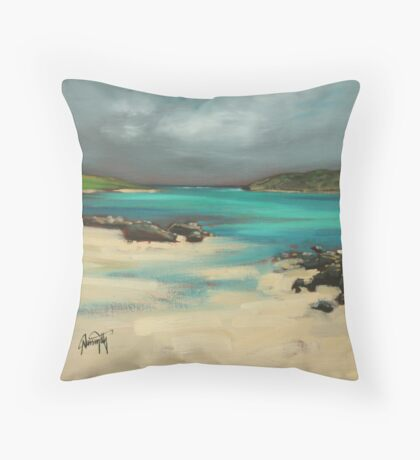 Vatersay and Barra Throw Pillow