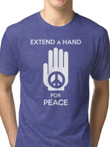 Extend a Hand for Peace Tri-blend T-Shirt